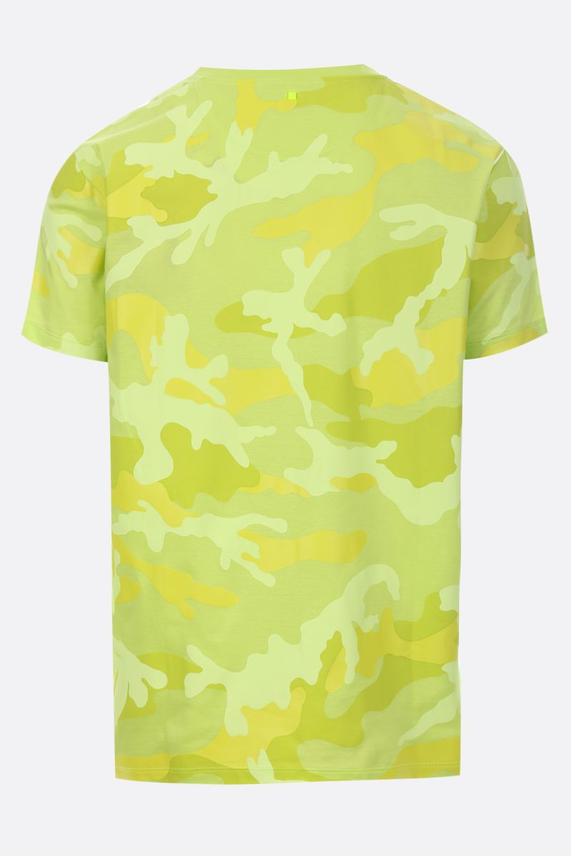 VALENTINO: camouflage print jersey t-shirt Color Yellow_2