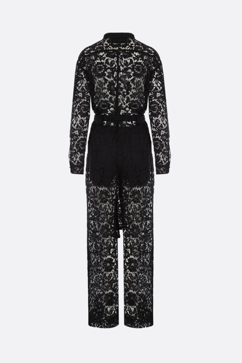 VALENTINO: jumpsuit in Heavy Lace Colore Nero_2