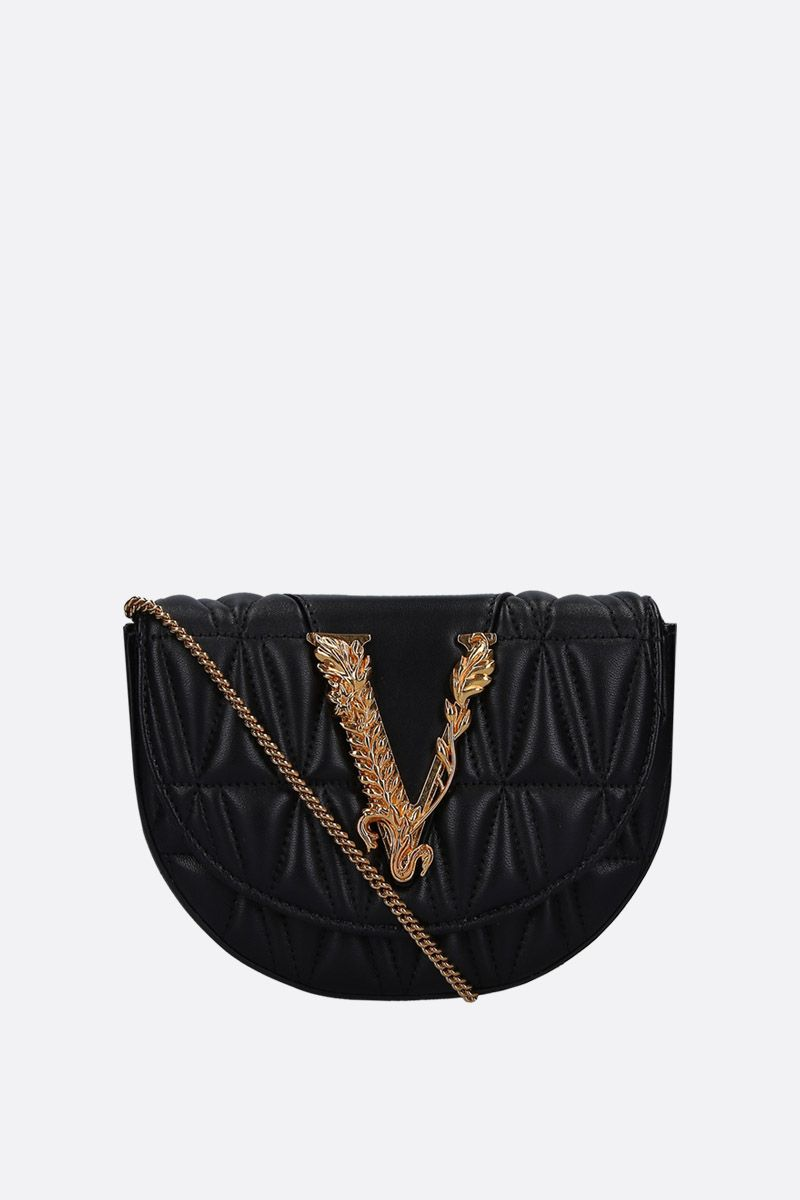 VERSACE: Virtus belt bag in quilted nappa Color Black_2