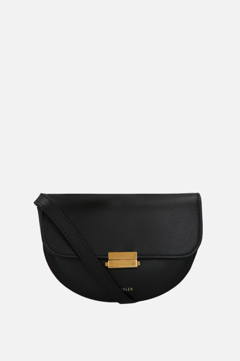 WANDLER: Anna buckle belt bag in smooth leather Color Black_2