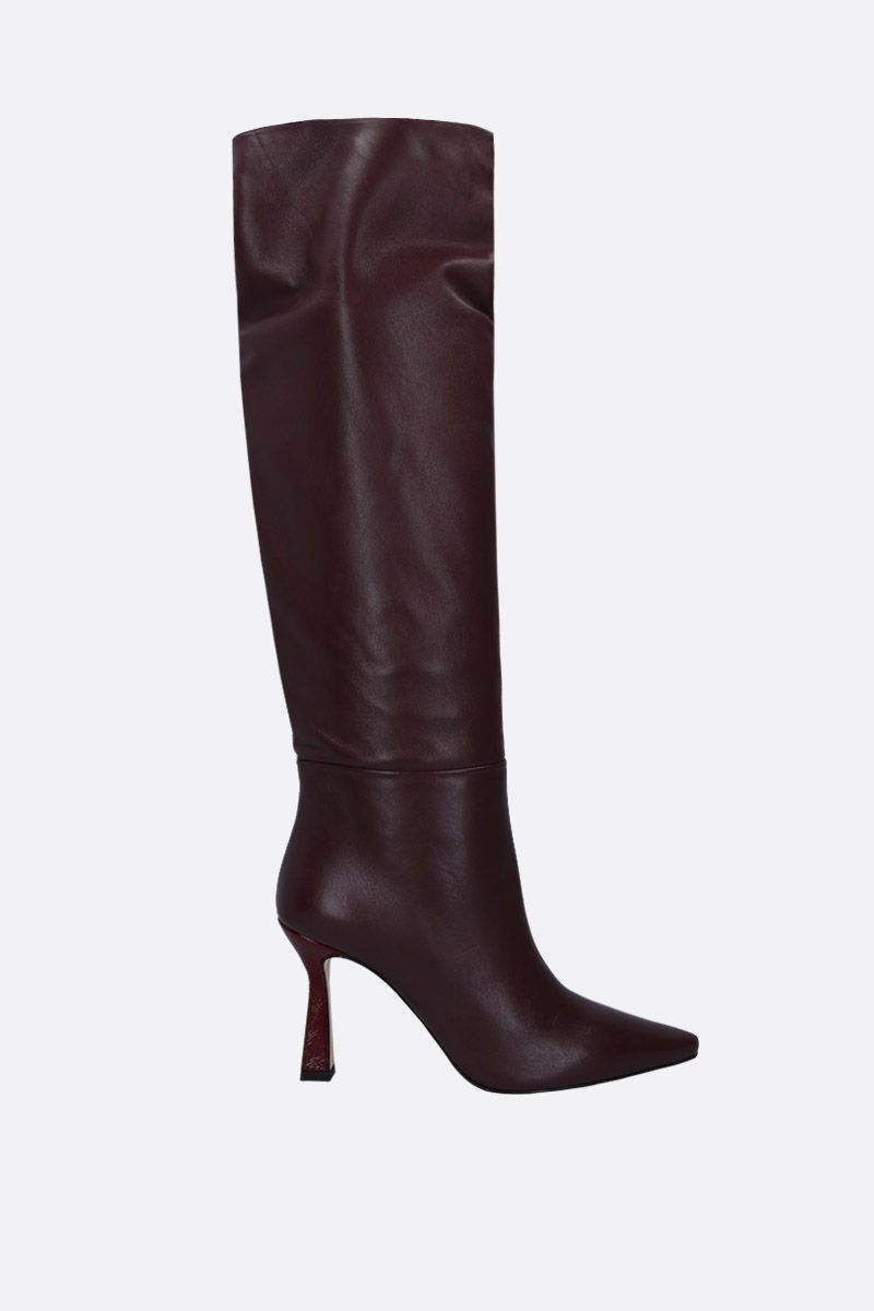 WANDLER: Lina long boots in soft nappa Color Red_1