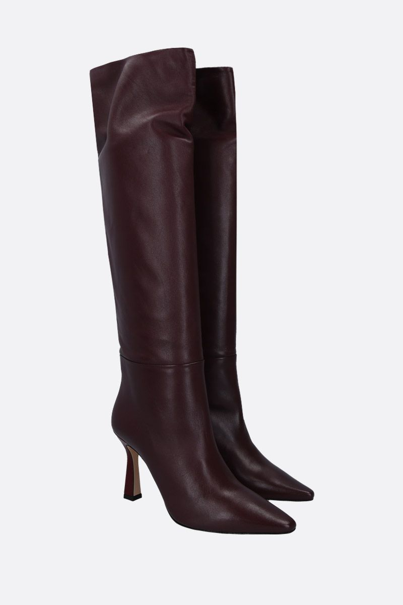 WANDLER: Lina long boots in soft nappa Color Red_2