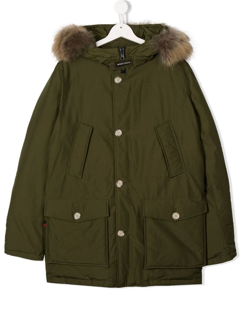 WOOLRICH KIDS: technical cotton down jacket_1