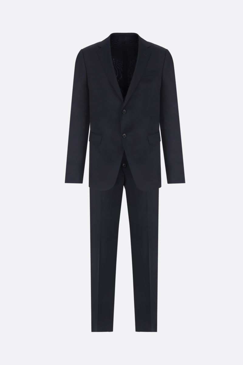 Z ZEGNA: Drop 8 three-pieces suit in striped lightweight wool Color Blue_1