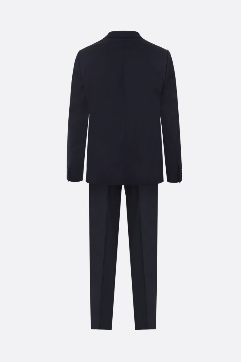 Z ZEGNA: Drop 8 three-pieces suit in striped lightweight wool Color Blue_2