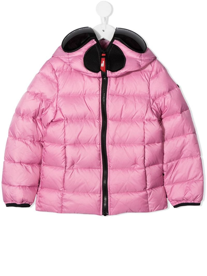 AI RIDERS ON THE STORM KIDS: PVC lenses-detailed nylon down jacket Color Pink_1