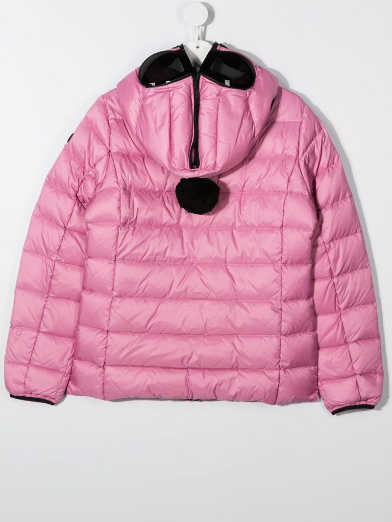 AI RIDERS ON THE STORM KIDS: PVC lenses-detailed nylon down jacket Color Pink_2