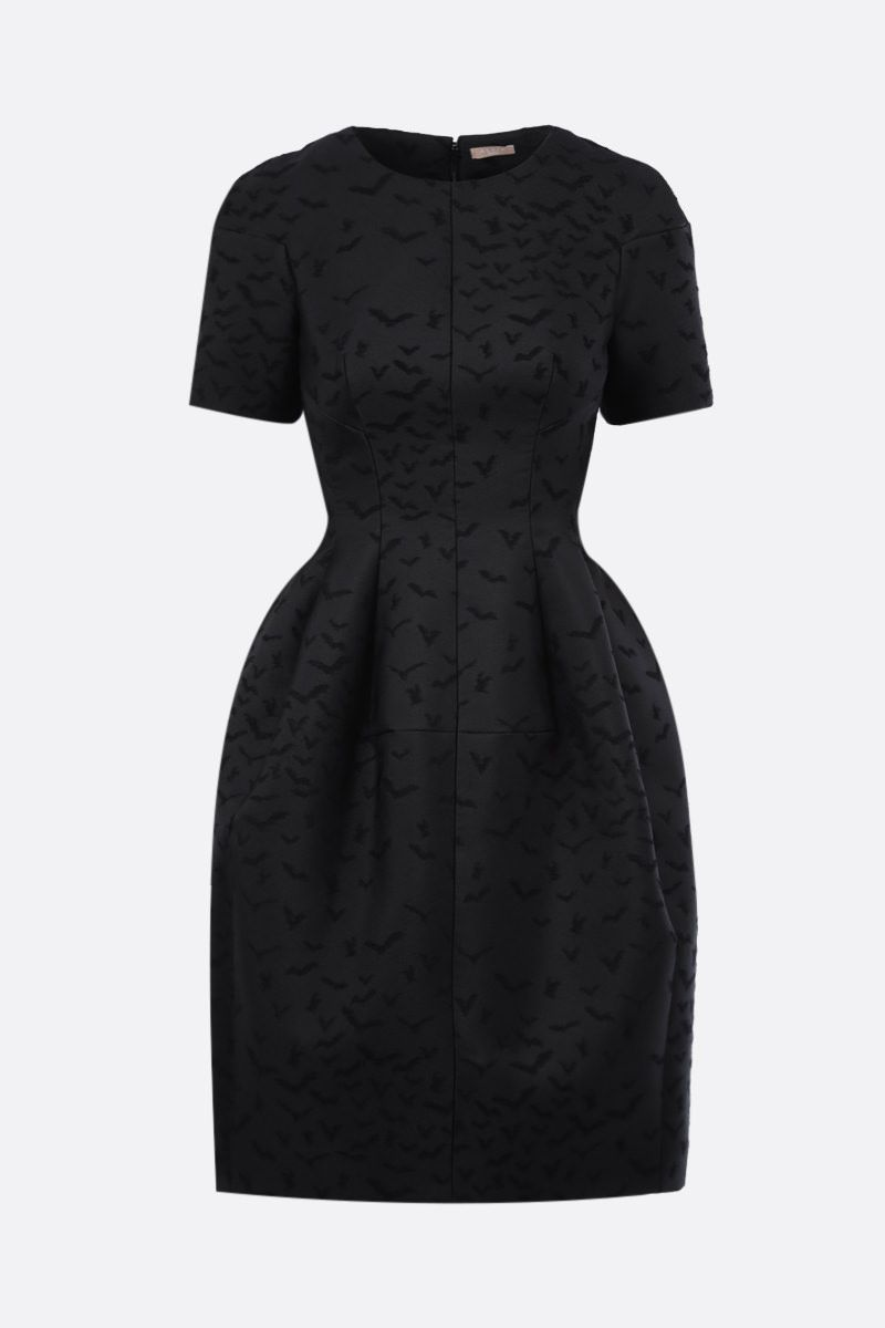 ALAIA: Envol jacquard short dress Color Black_1