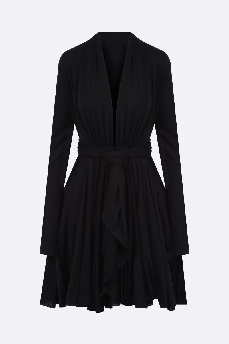 ALAIA: wool jersey short dress Color Black_1