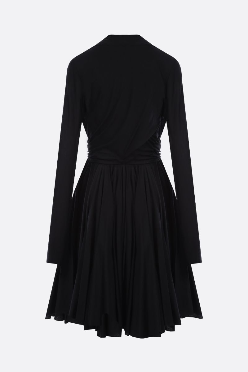 ALAIA: wool jersey short dress Color Black_2
