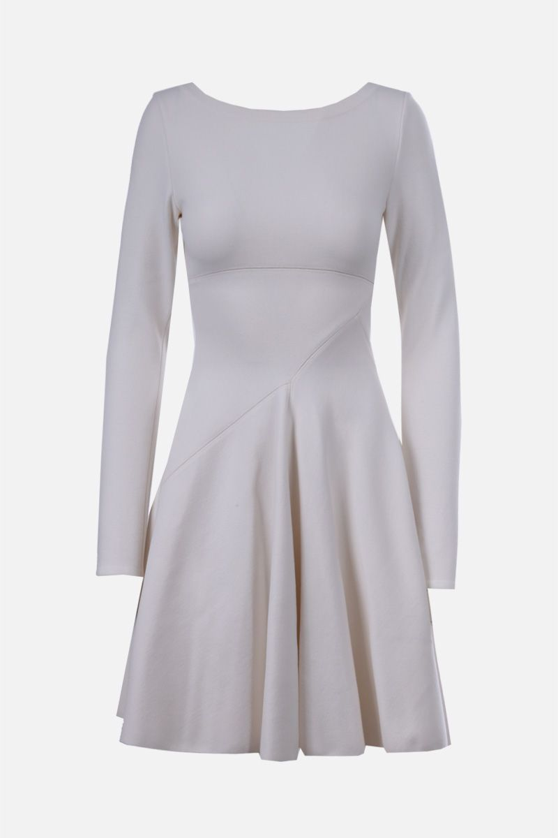 ALAIA: wool blend short dress Color White_1