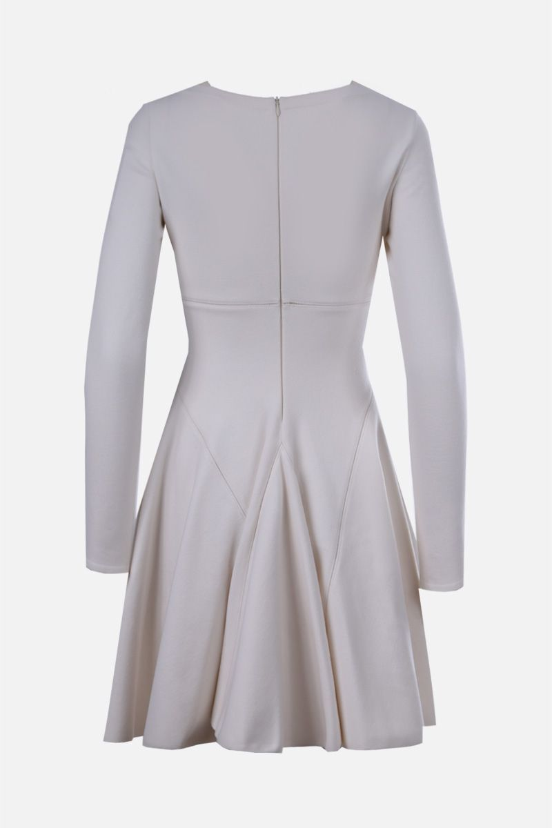 ALAIA: wool blend short dress Color White_2