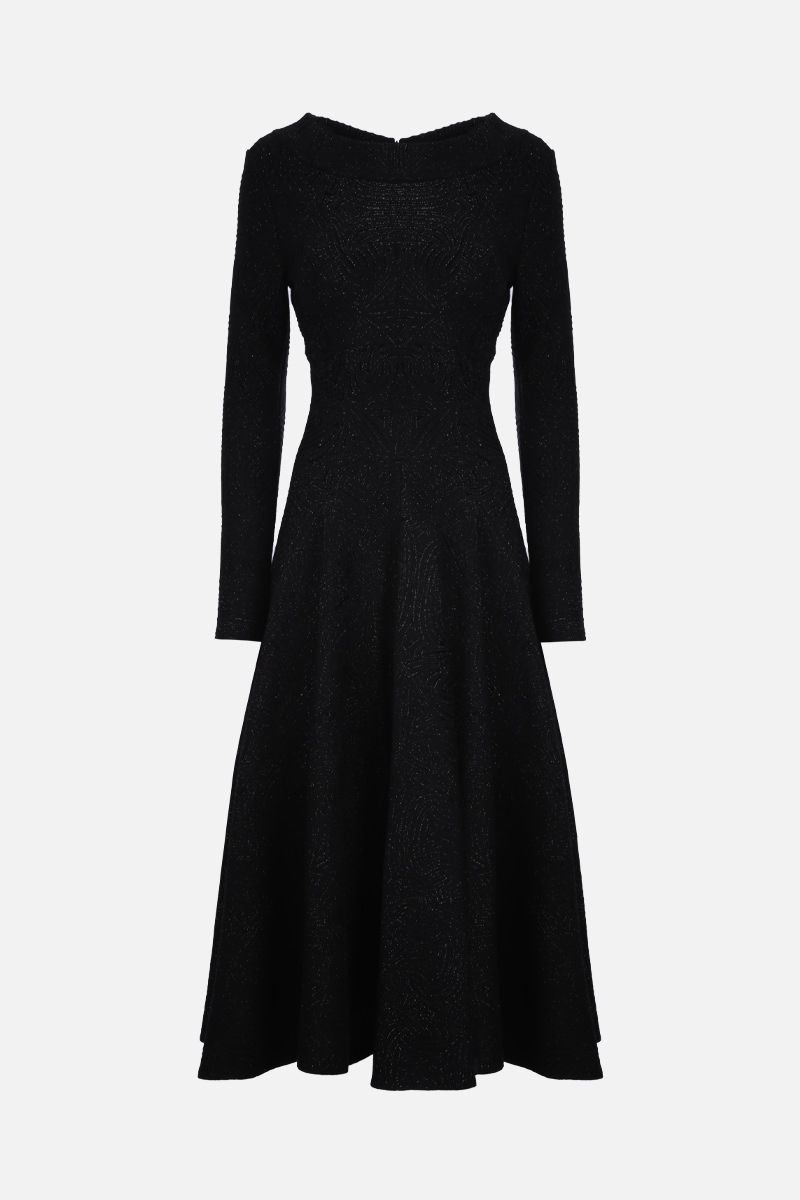 ALAIA: Apolima Lux knit midi dress Color Black_1