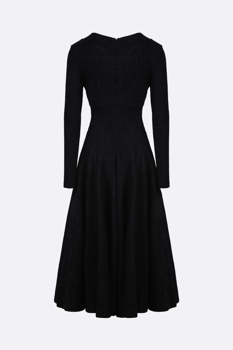 ALAIA: Apolima Lux knit midi dress Color Black_2