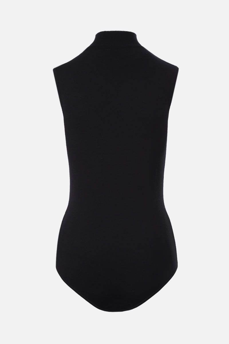 ALAIA: wool blend sleeveless bodysuit Color Black_2