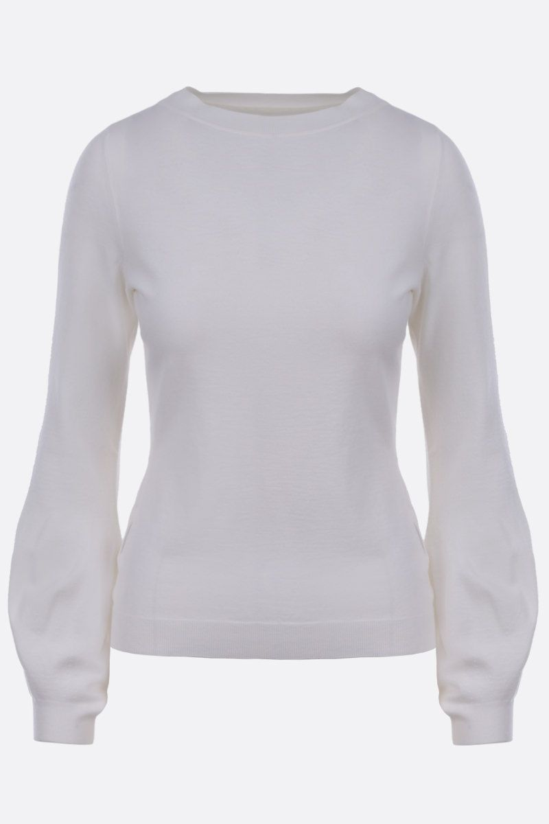 ALAIA: wool blend pullover Color White_1