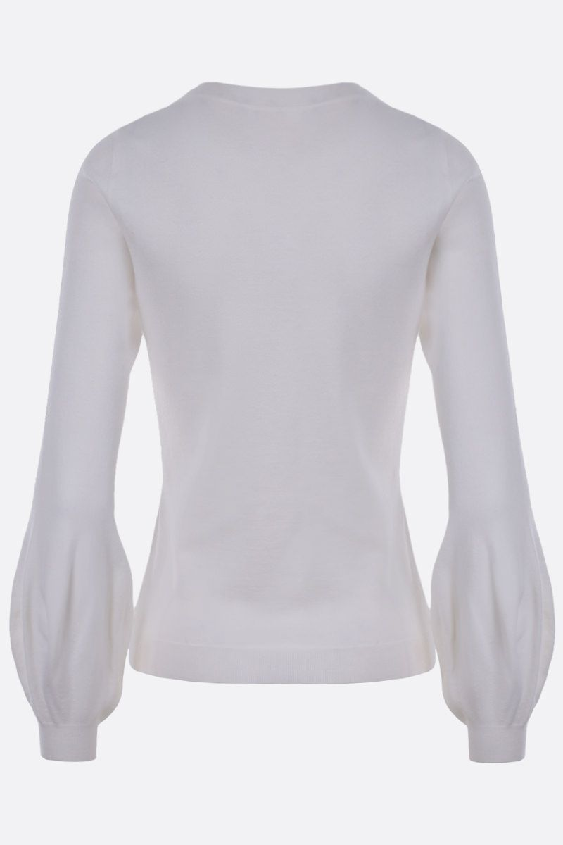 ALAIA: wool blend pullover Color White_2