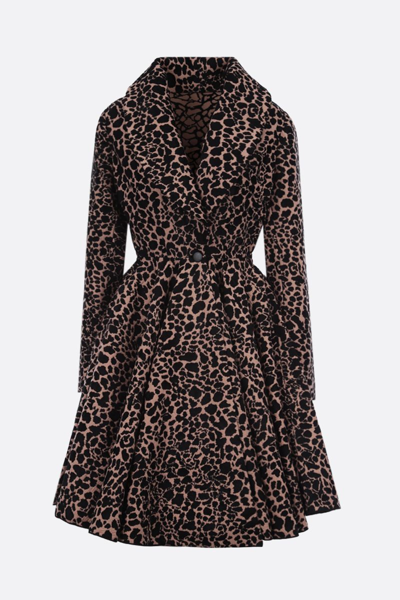 ALAIA: Panthere jacquard single-breasted coat_1