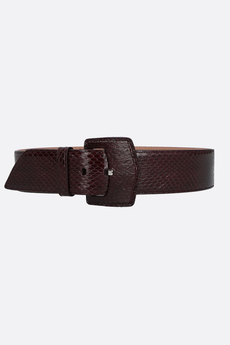 ALAIA: snakeskin belt Color Brown_1