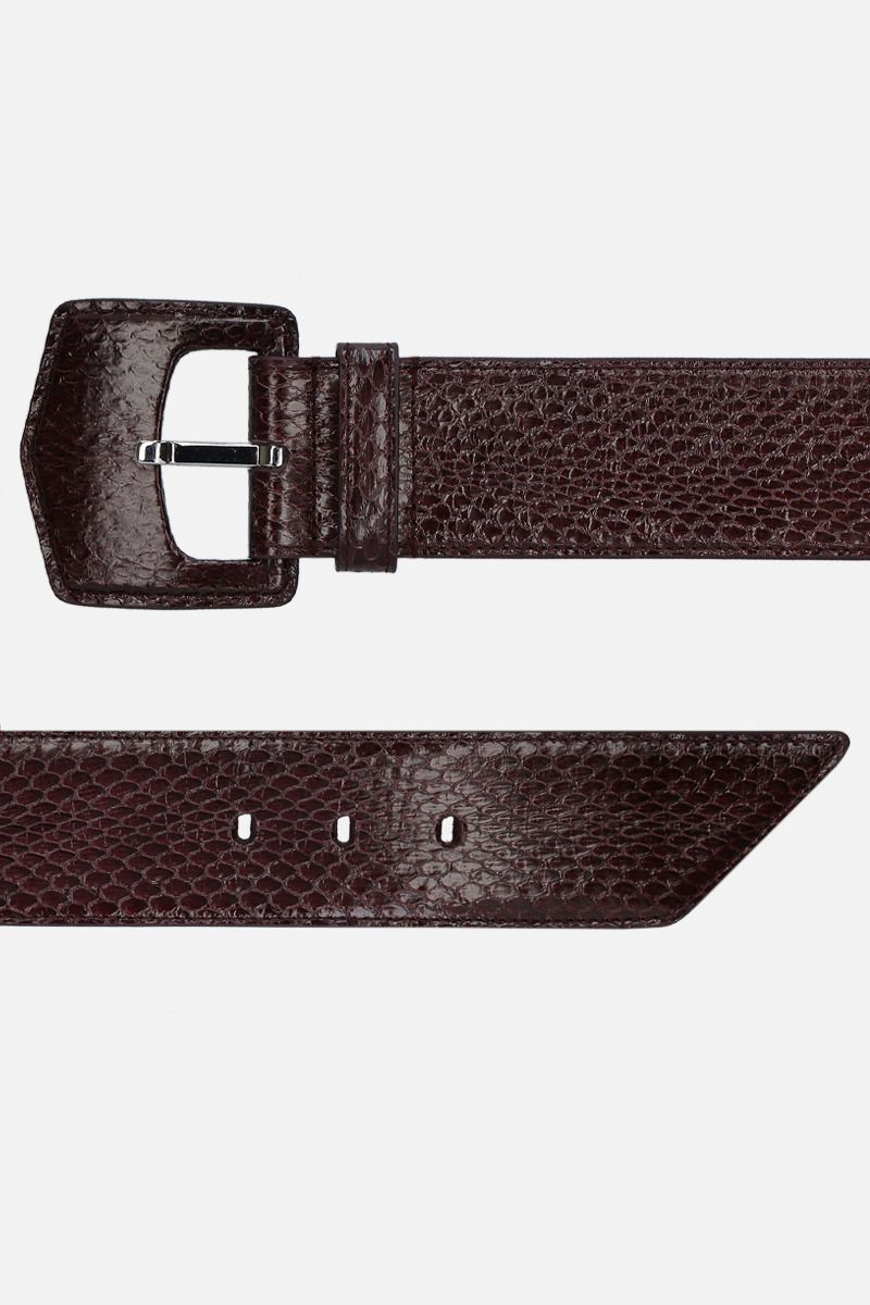 ALAIA: snakeskin belt Color Brown_2