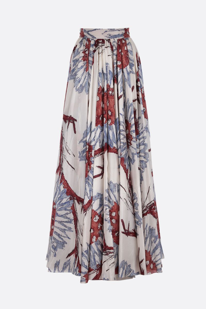 ALAIA: Grand Tournesol print silk circle skirt_1