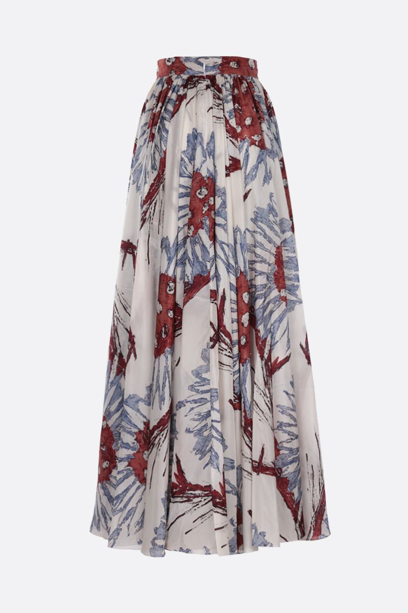 ALAIA: Grand Tournesol print silk circle skirt Color Multicolor_2