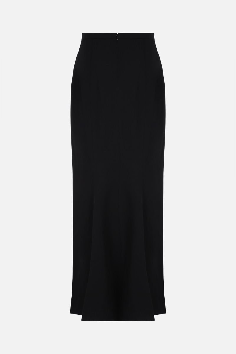 ALAIA: wool long skirt Color Black_2