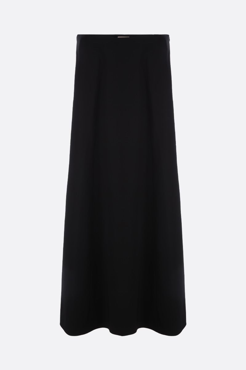 ALAIA: grain de poudre wool wide-leg pants Color Black_1