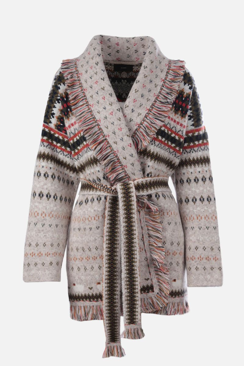 ALANUI: Lost in a Forest cashmere blend oversize cardigan Color Multicolor_1