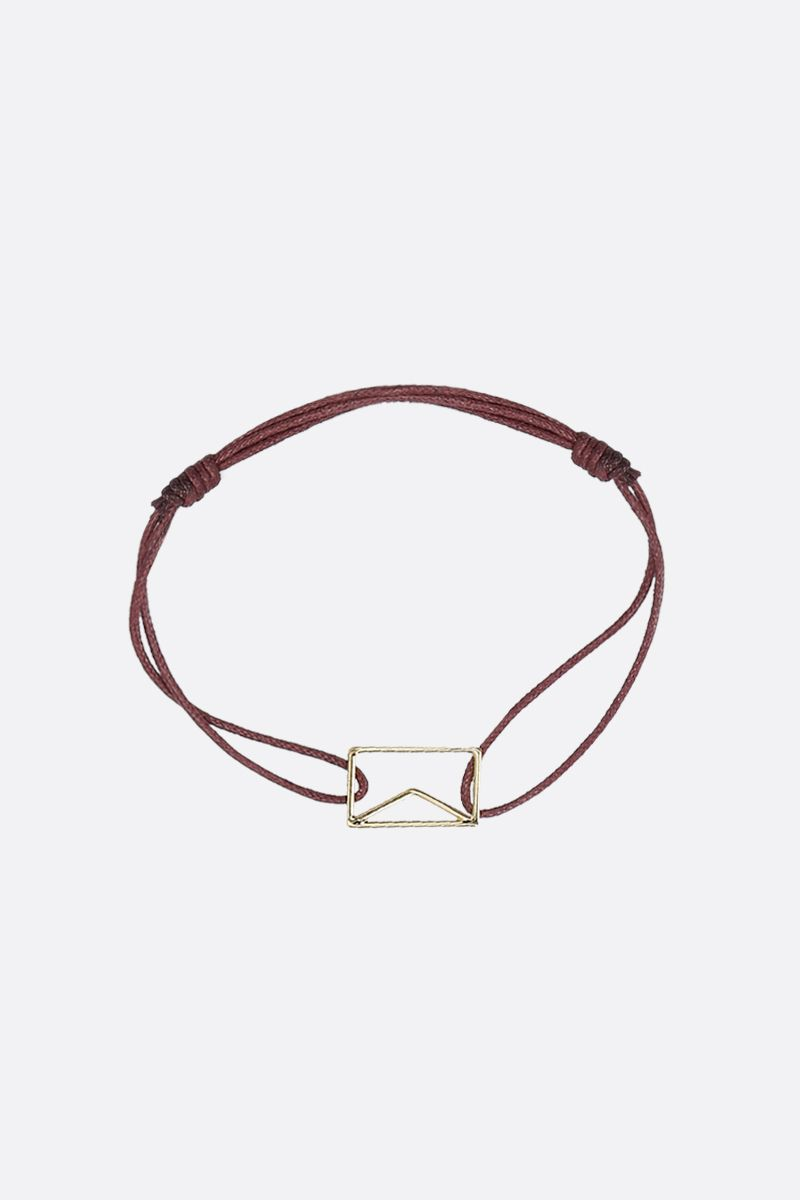ALIITA: Carta Pura gold and cord bracelet Color Gold_1