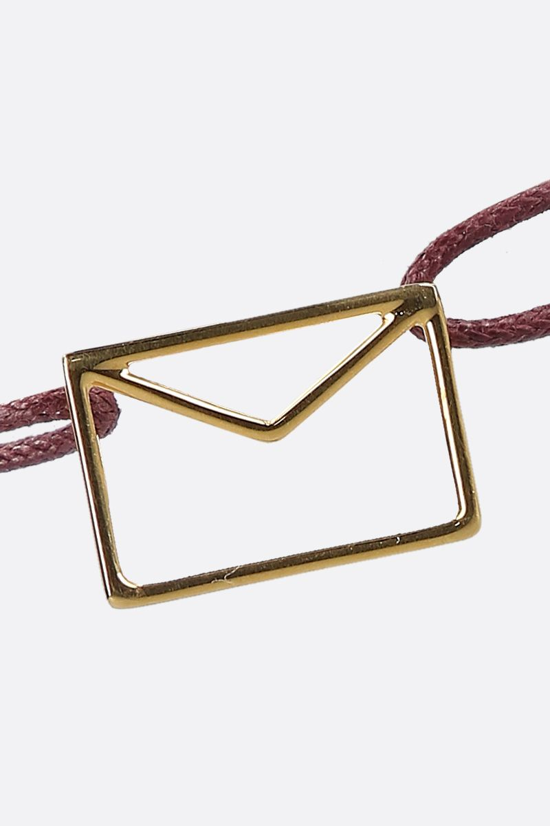 ALIITA: Carta Pura gold and cord bracelet Color Gold_2