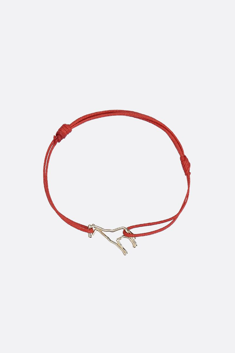 ALIITA: Jirafa cord bracelet with gold pendant Color Gold_1