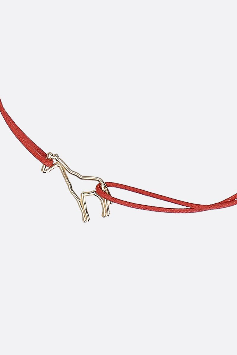 ALIITA: Jirafa cord bracelet with gold pendant Color Gold_2