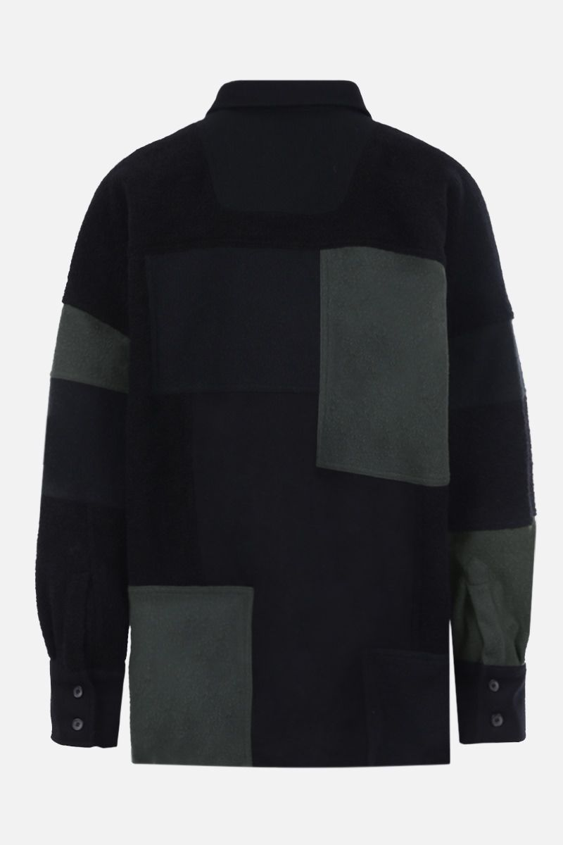 AMBUSH: oversize fleece and bouclè shirt Color Black_2