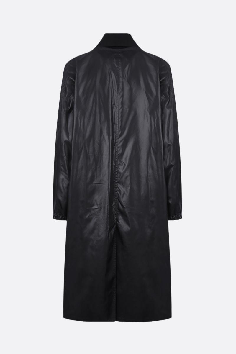 AMBUSH: wool blend and nylon layered coat Color Black_2