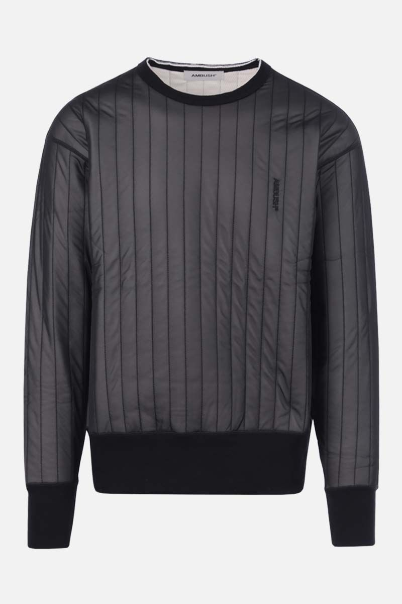 AMBUSH: nylon and jersey sweatshirt Color Black_1