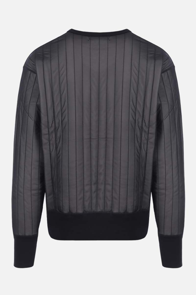 AMBUSH: nylon and jersey sweatshirt Color Black_2