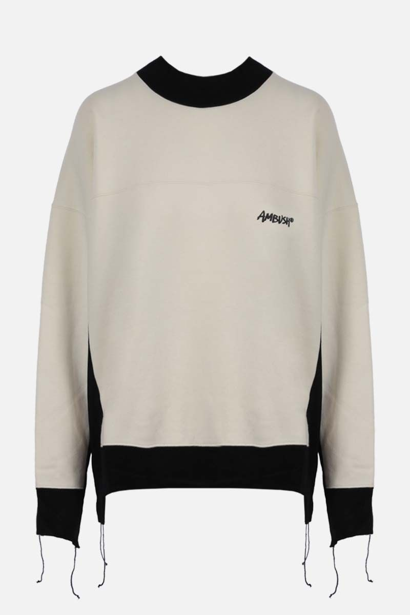 AMBUSH: Ambush print cotton blend sweatshirt Color White_1