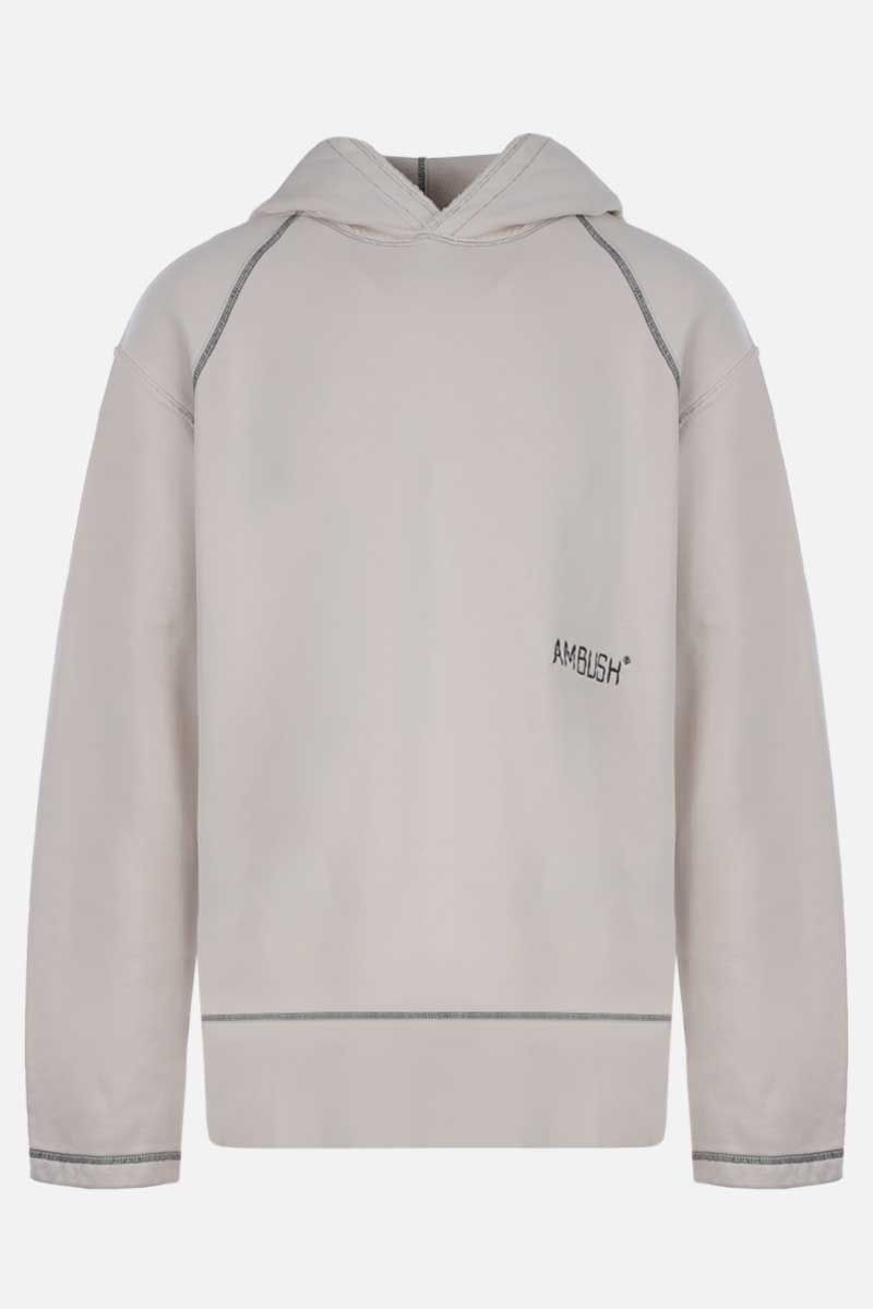 AMBUSH: Ambush embroidered cotton hoodie Color Multicolor_1