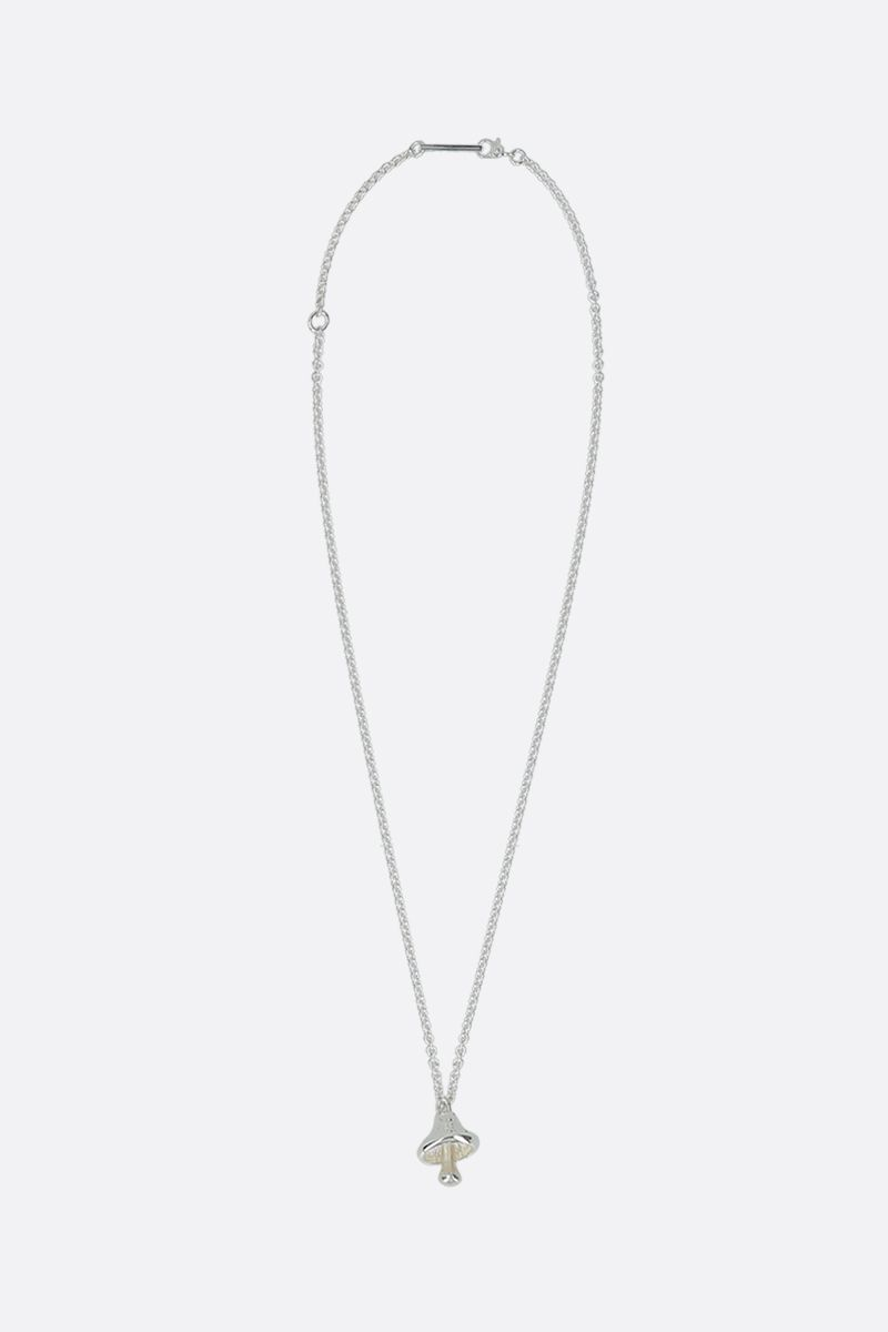 AMBUSH: Mushroom pendant silver necklace Color Silver_1