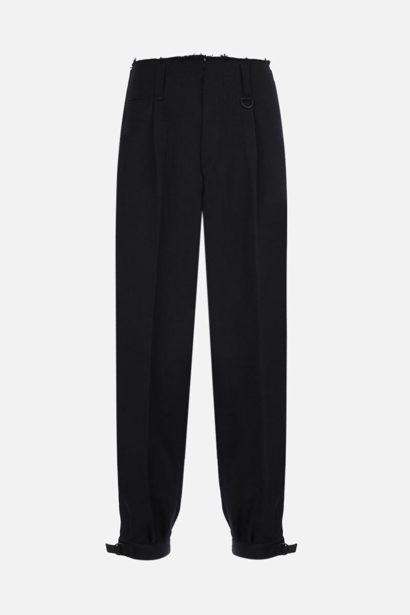 AMBUSH: wool blend darted pants Color Black_1