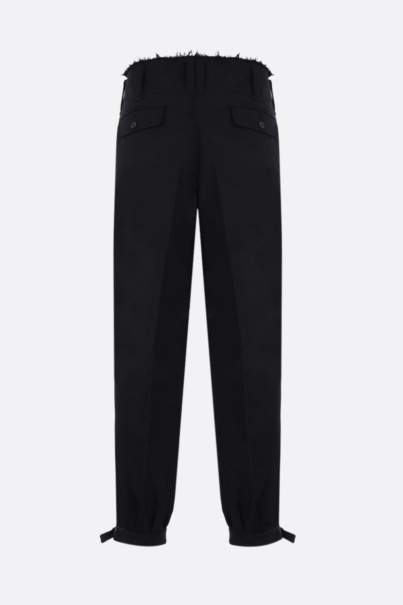 AMBUSH: wool blend darted pants Color Black_2