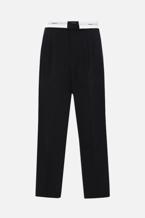 AMBUSH: lightweight wool folded pants Color Black_1