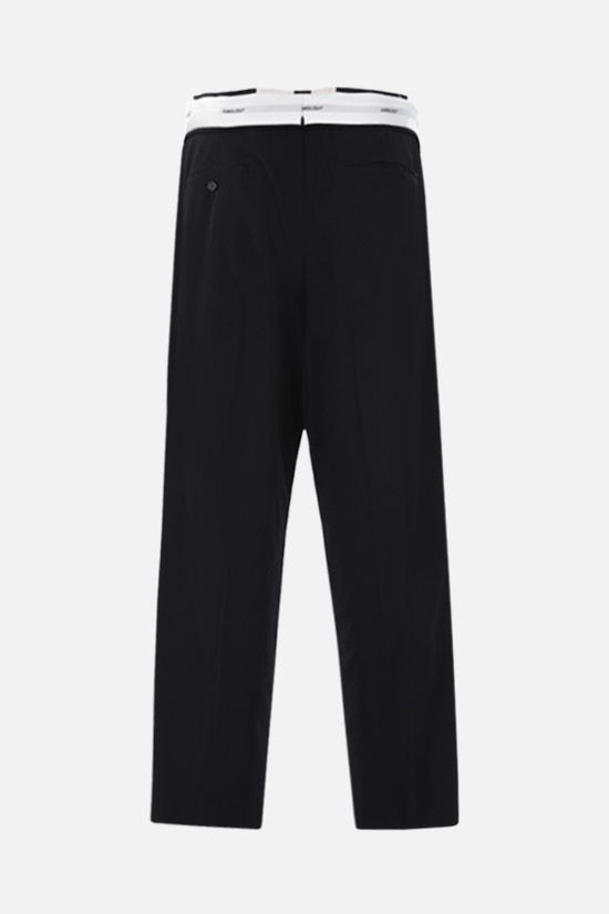 AMBUSH: lightweight wool folded pants Color Black_2