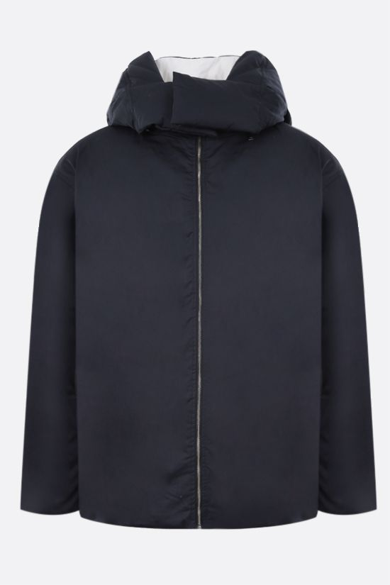 AMBUSH: technical canvas and nylon reversible down jacket Color Blue_1