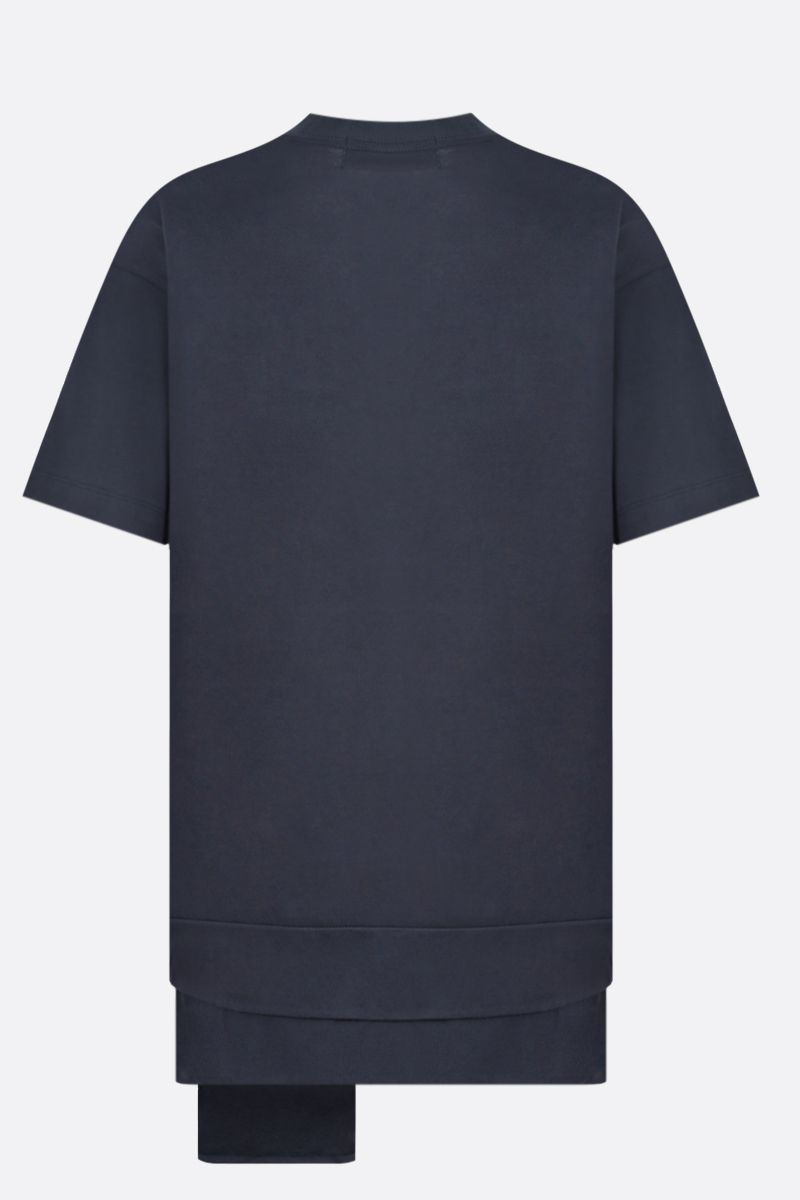 AMBUSH: Ambush® print cotton t-shirt Color Blue_2