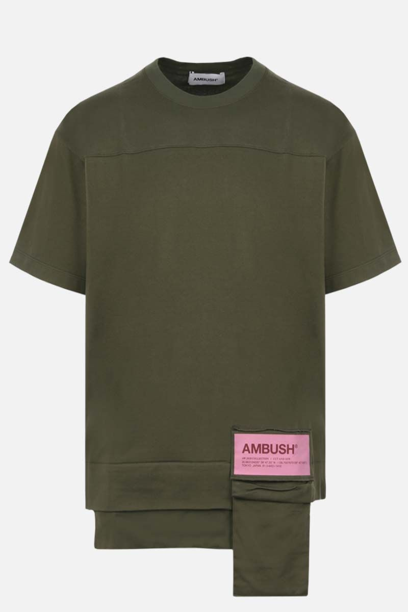 AMBUSH: Ambush® print cotton t-shirt Color Green_1