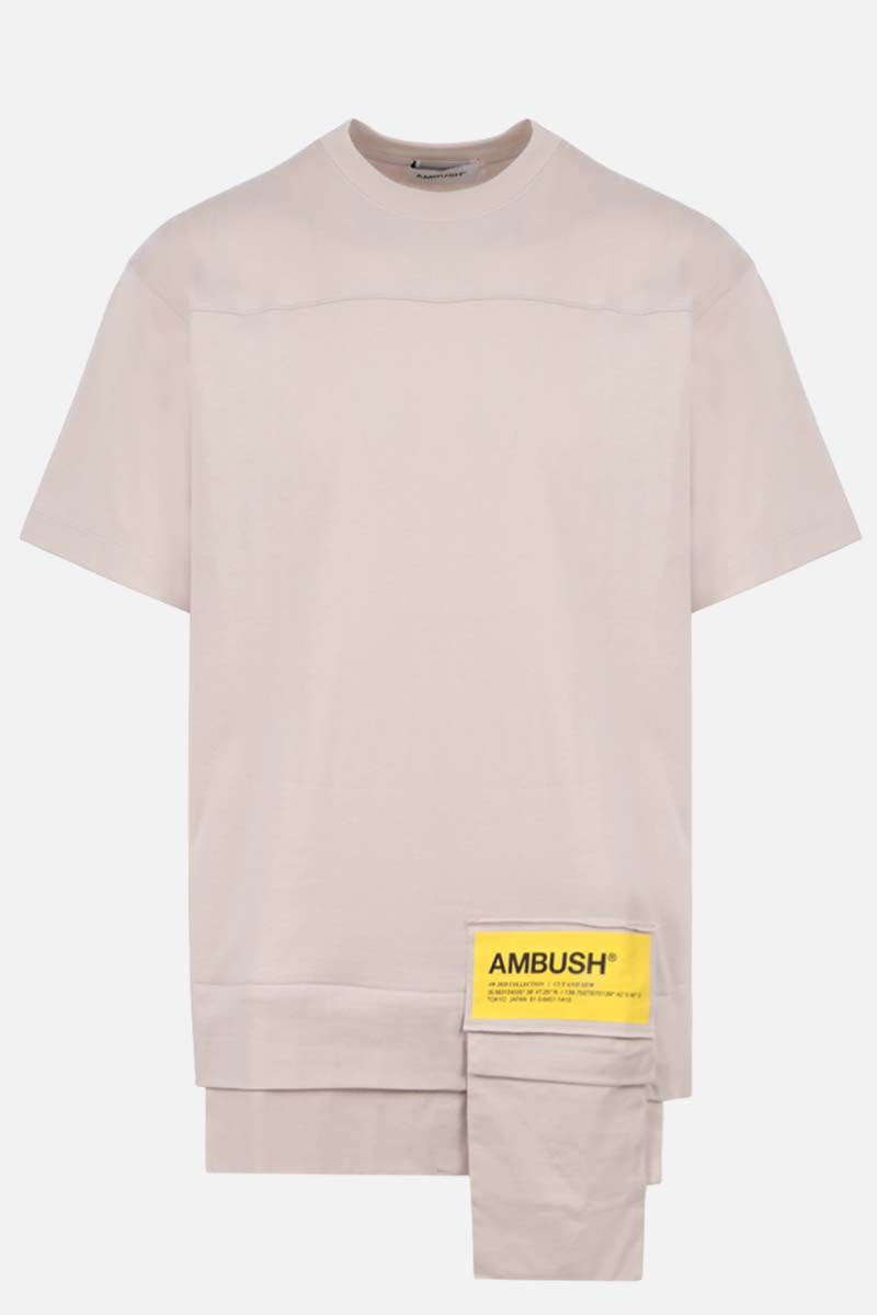 AMBUSH: Ambush® print cotton t-shirt Color Neutral_1