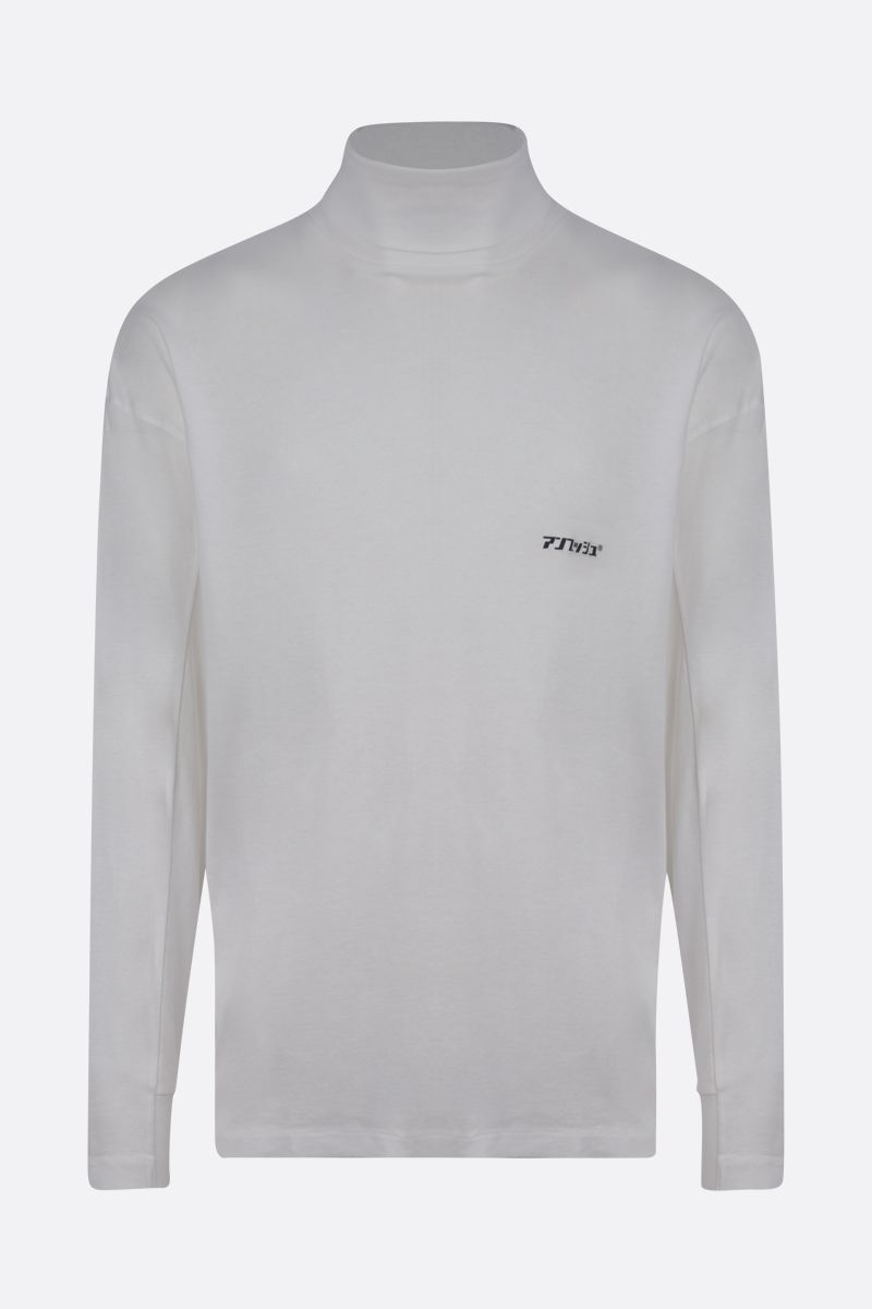 AMBUSH: logo print cotton long-sleeved t-shirt Color White_1