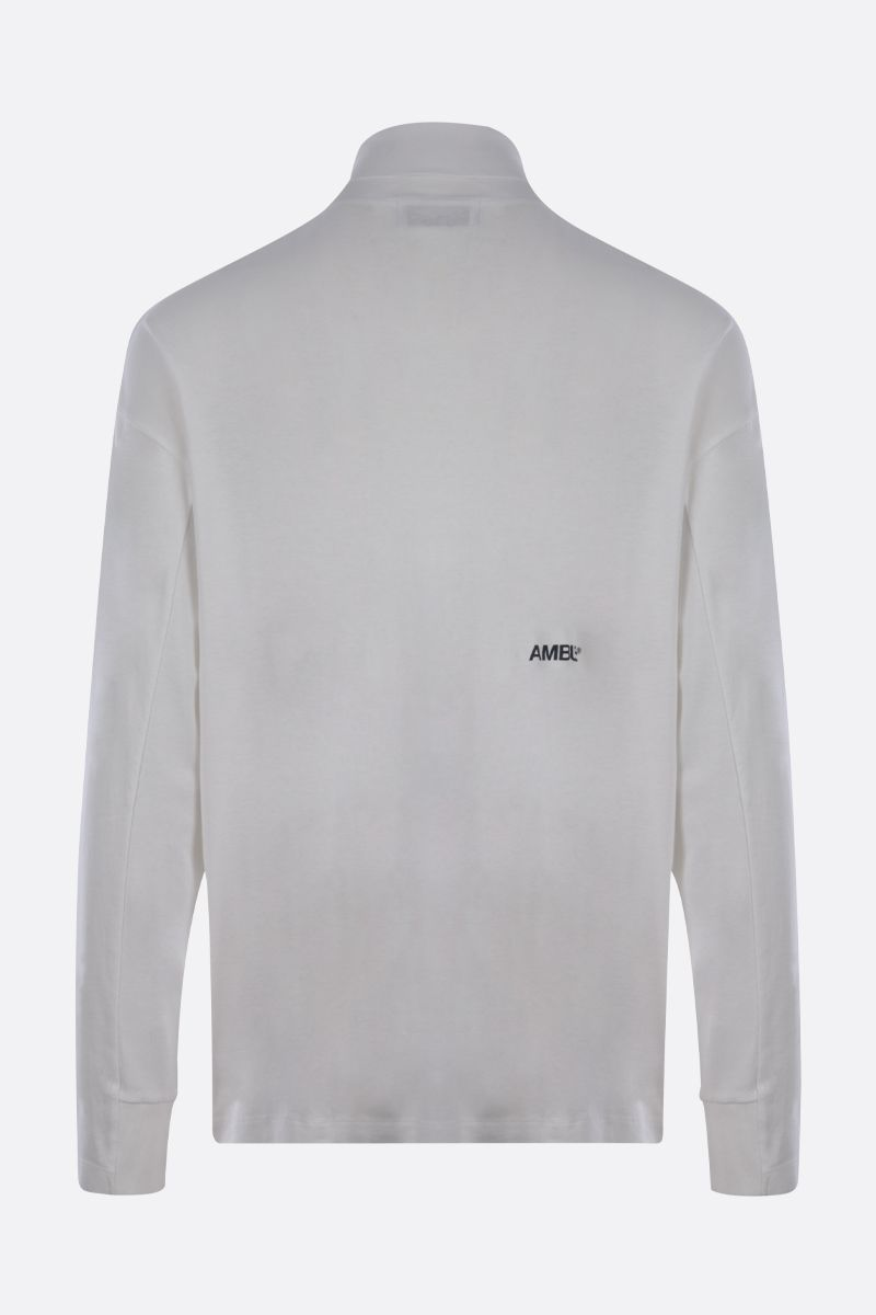 AMBUSH: logo print cotton long-sleeved t-shirt Color White_2